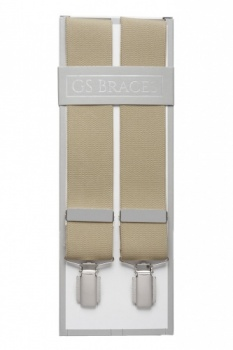 Plain Beige Mens Braces